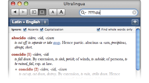 Ultralingua Latin-English Dictionary
