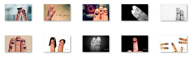 Finger Faces Windows 7 Theme 1.00