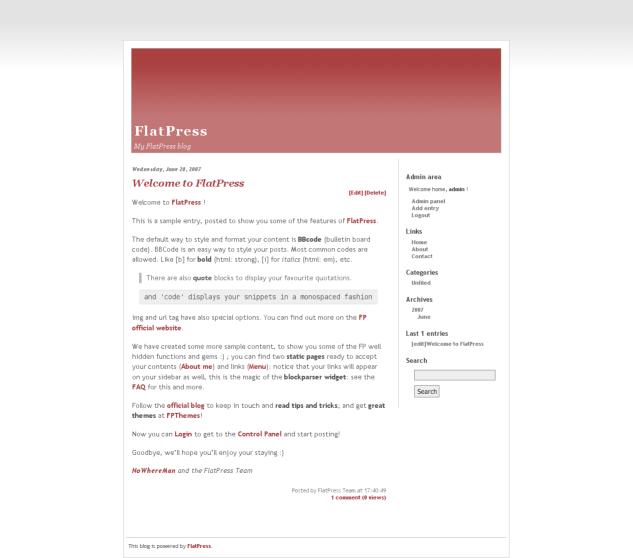 FlatPress 1.0.2