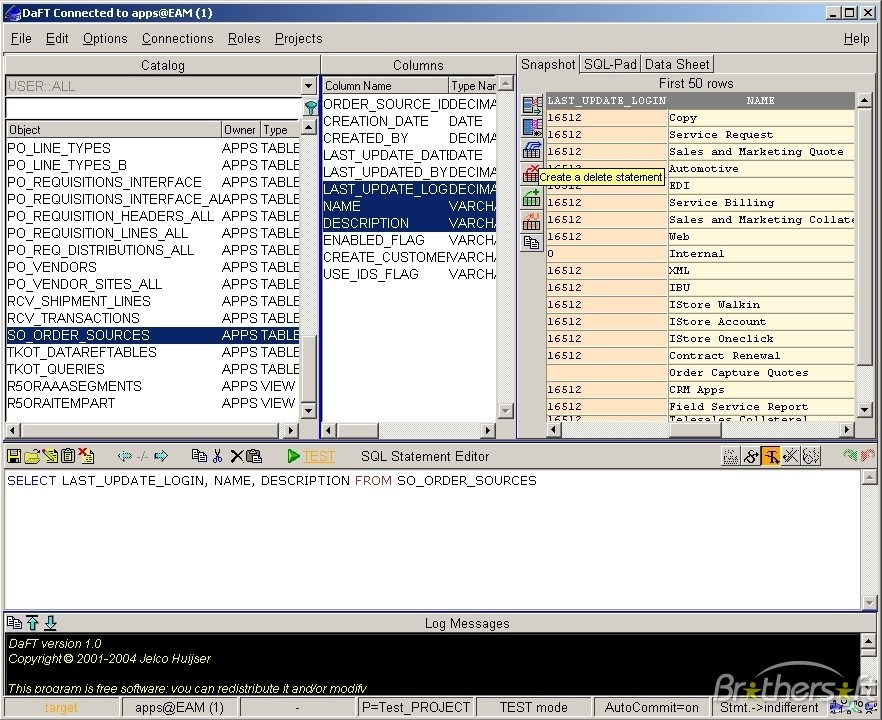 Database Fishing Tool