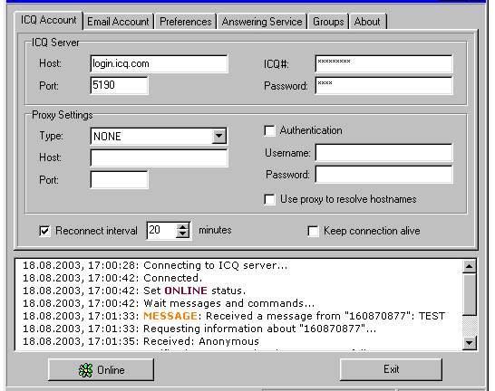 Advanced ICQ Tools