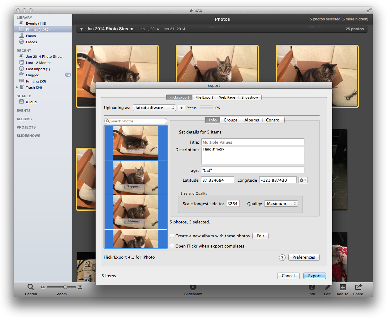 FlickrExport for iPhoto 4.1.2 For Mac