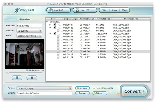 iSkysoft DVD to Mobile Phone Converter