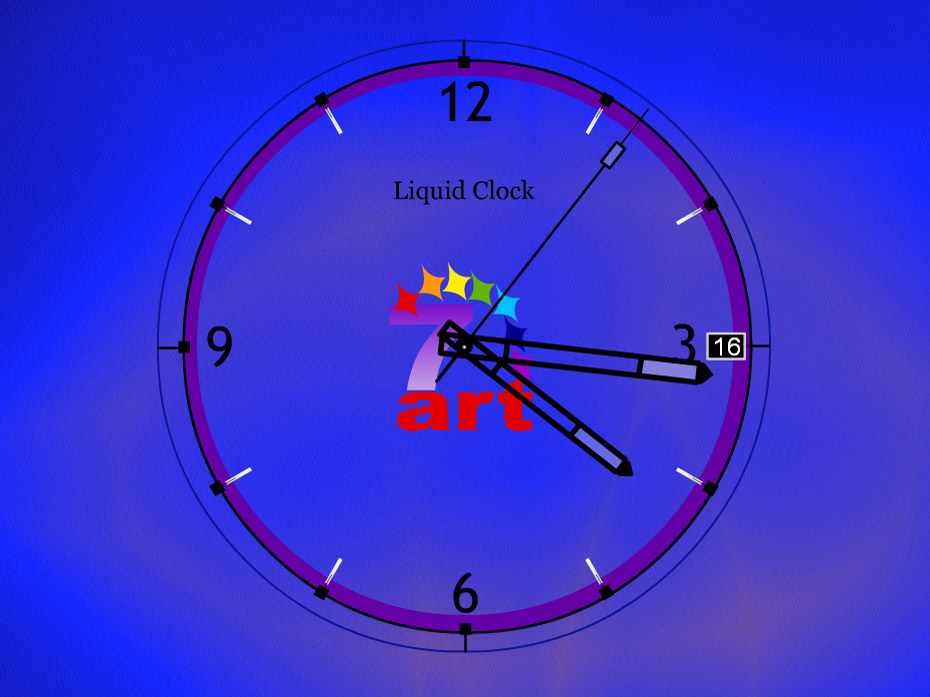 Liquid Clock ScreenSaver
