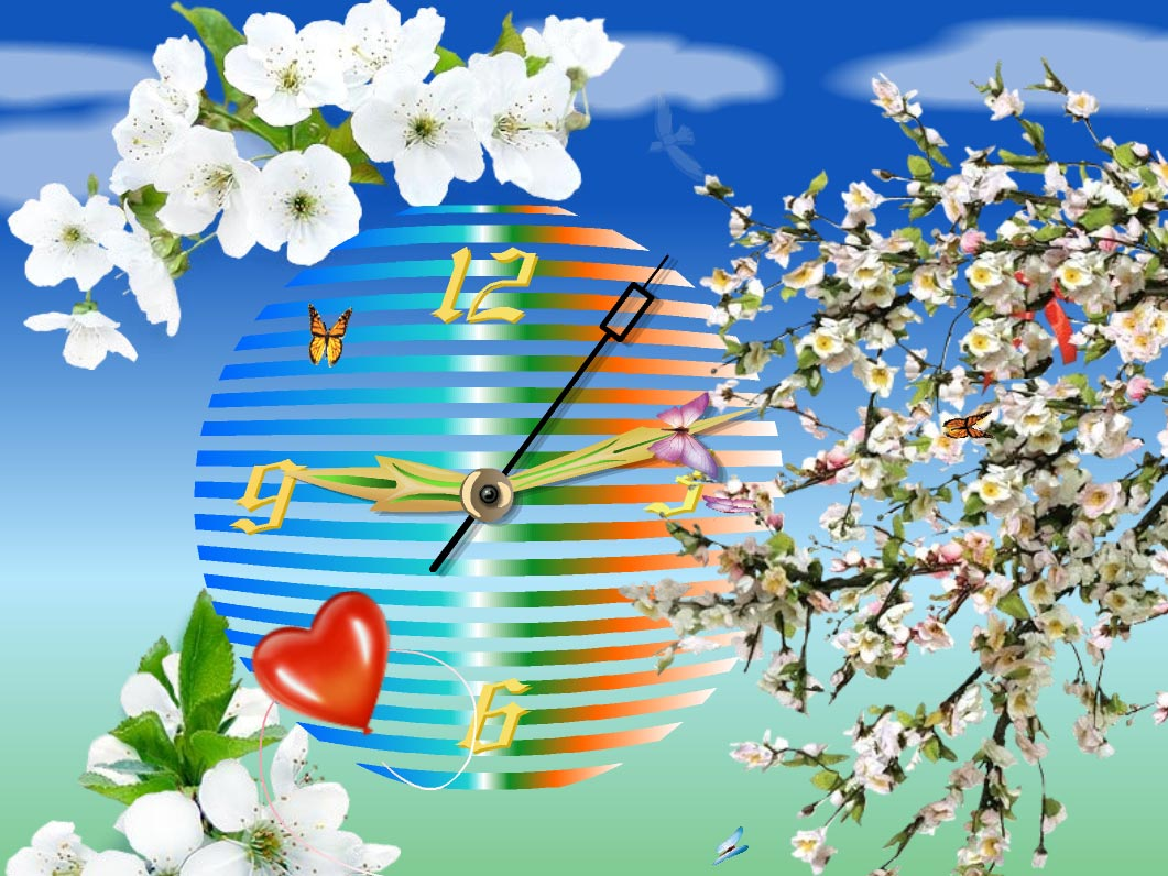 Blossom Clock Screensaver