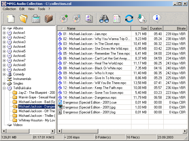 MPEG Audio Collection