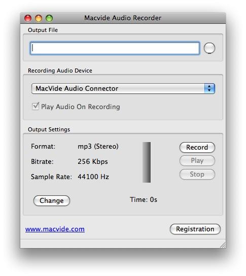 Macvide Audio Recorder