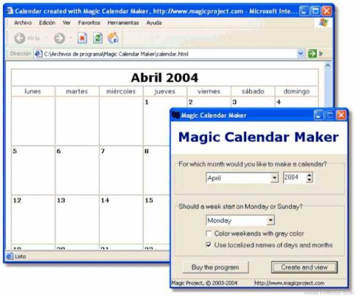 Magic Calendar Maker 3.5