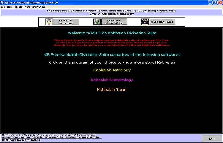 MB Free Kabbalah Divination Suite