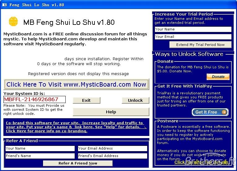 MB Free Feng Shui Lo Shu