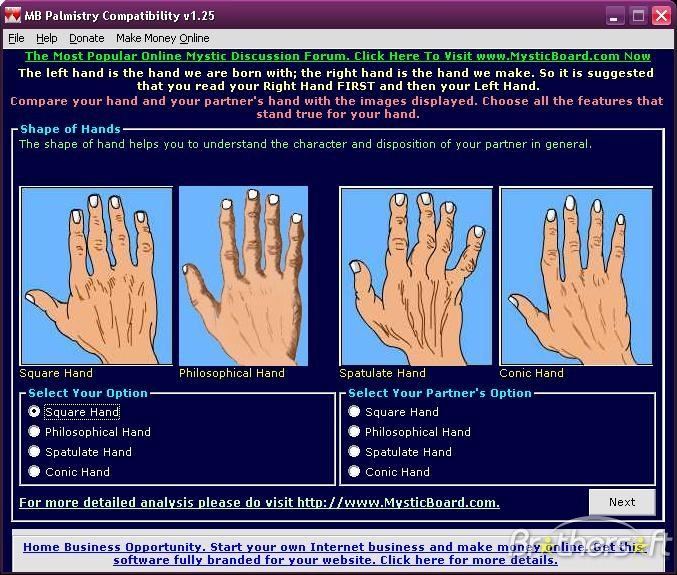 MB Free Learn Palmistry Software