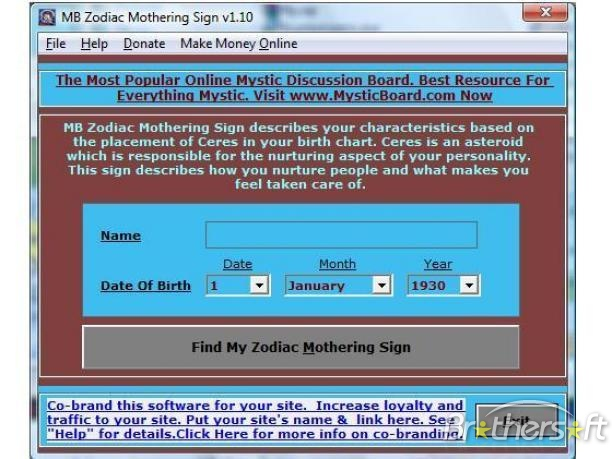 MB Zodiac Mothering Sign