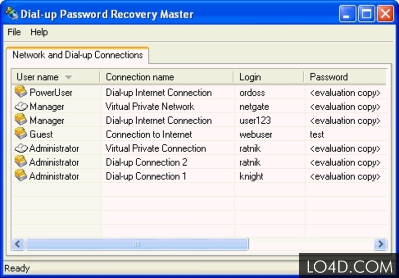 Network and Dial-up Password Revealer