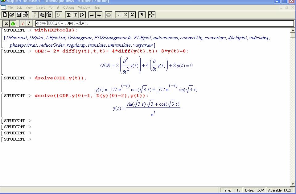 Math::ODE