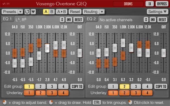 Voxengo Overtone GEQ(VST) For Mac