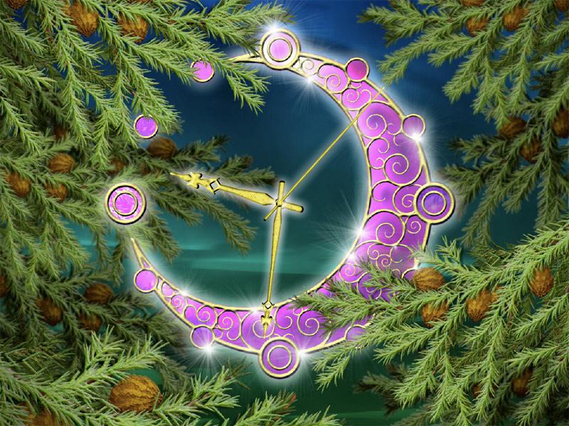 Pine Magic Clock ScreenSaver