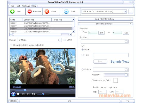 Puma Video To 3GP Converter