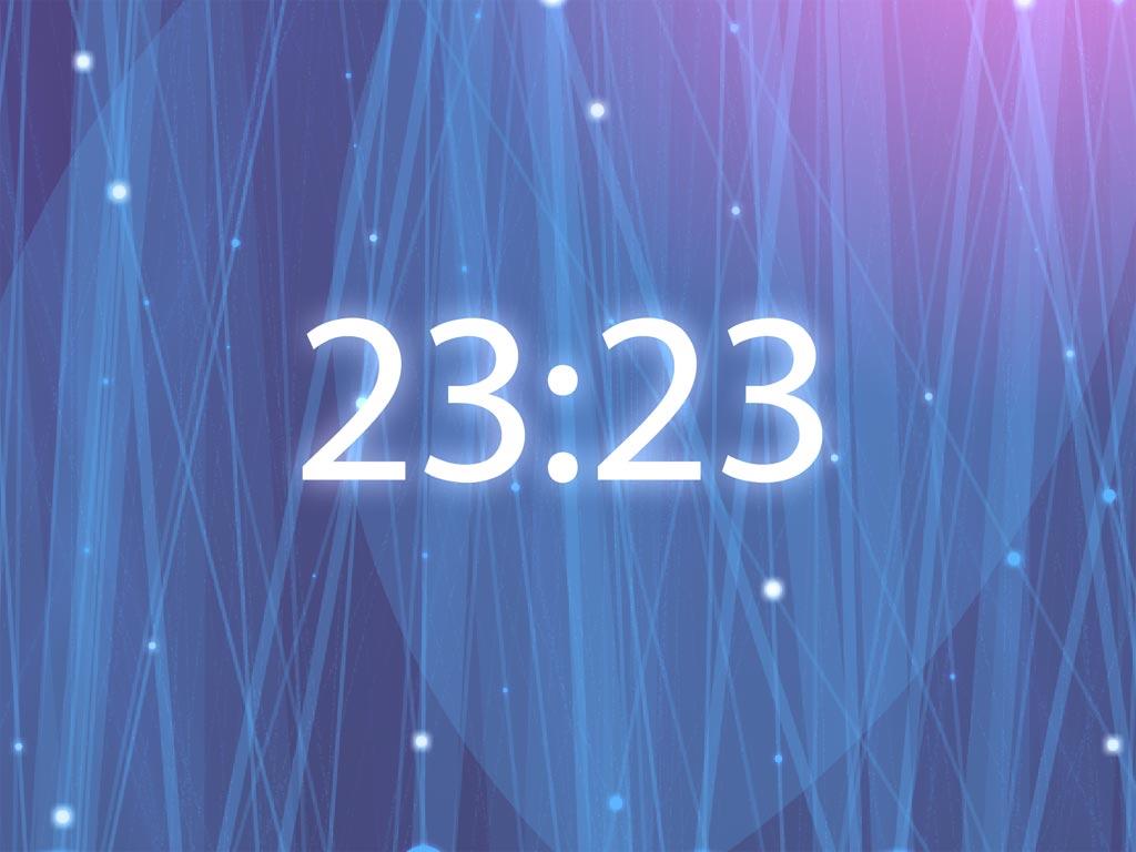 Radiating Clock ScreenSaver