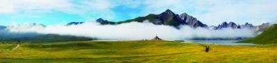 莲宝叶则神山和天湖群导游词范文