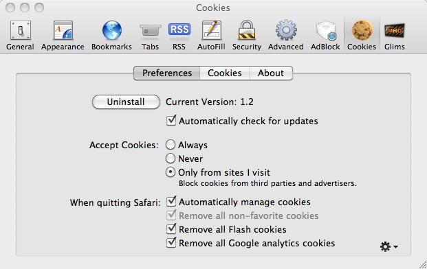 Safari Cookies For Mac 1.9.9