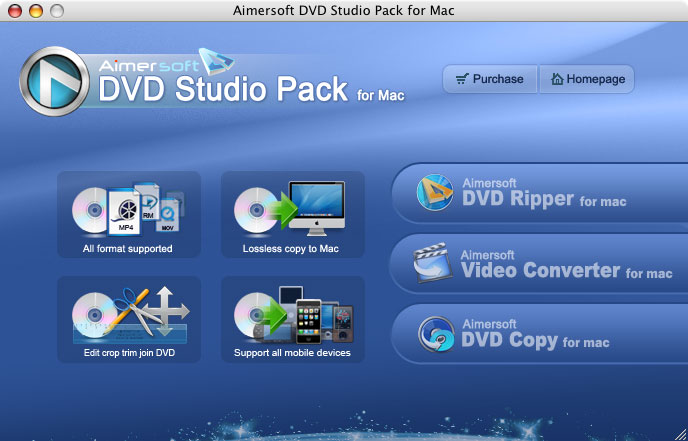 Aimersoft DVD Studio pack for Mac