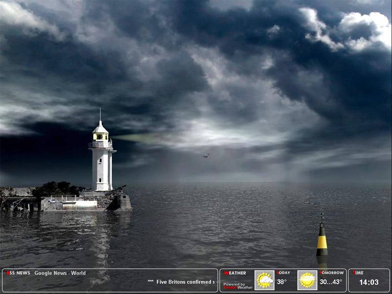 Majestic Lighthouse Screensaver