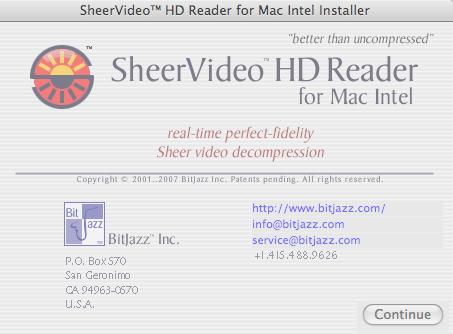 SheerVideo Reader X