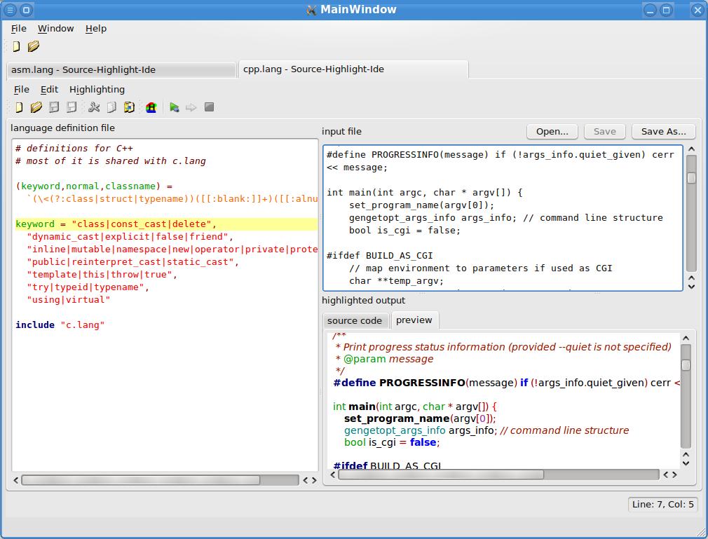 GNU Source-highlight