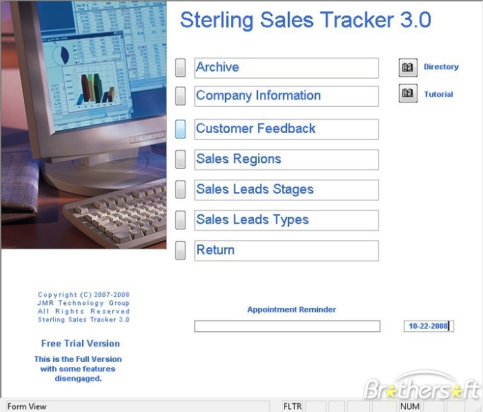 Sterling Sales Tracker