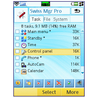 Swiss Manager for UIQ 1.8