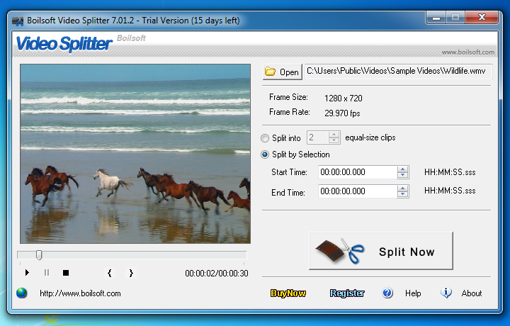 Boilsoft Video Splitter 5.11 汉化版