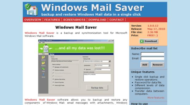 Mail Saver