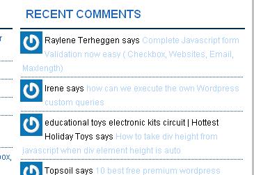 Get Recent Comments