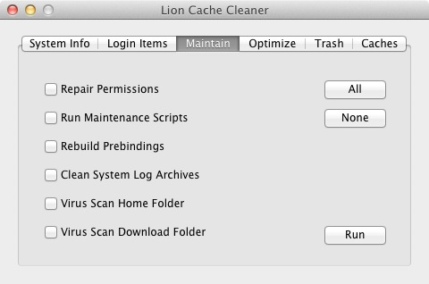 Leopard Cache Cleaner