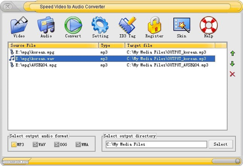 Speed Video to Audio Converter