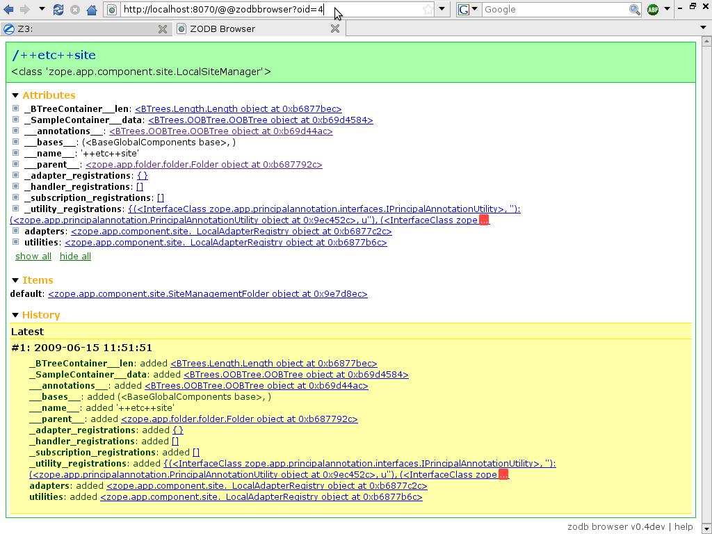 ZODB Browser