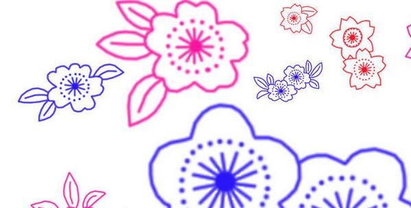 刺绣花纹笔刷