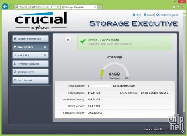 镁光SSD管理工具(Storage Executive)