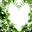 绿色树叶心形相框素材 1.0 绿色版