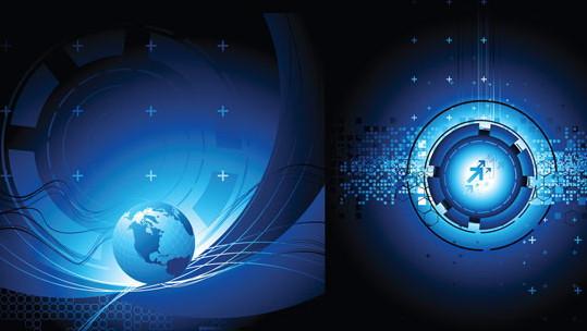 地球科技矢量图