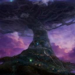 守护神圣之树...