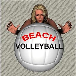 沙滩美女排球...