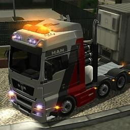 重型卡车停车场...