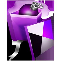 圣诞节紫色梦幻Banner矢量素材大全