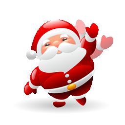可爱圣诞老人图标下载