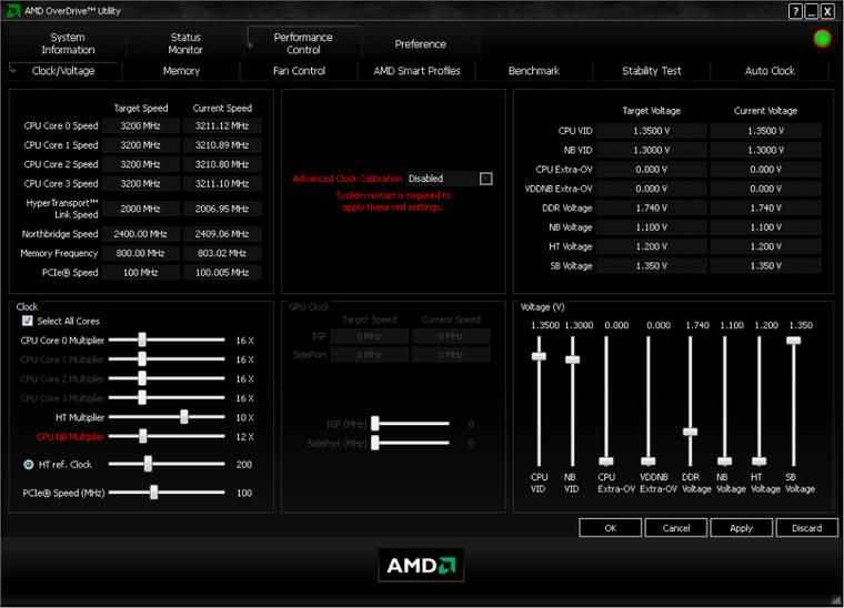 AMD OverDrive截图1