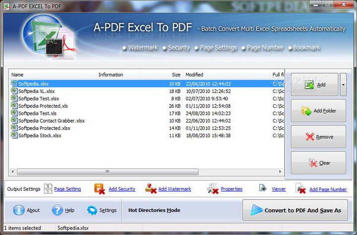 A-PDF Excel to PDF截图1
