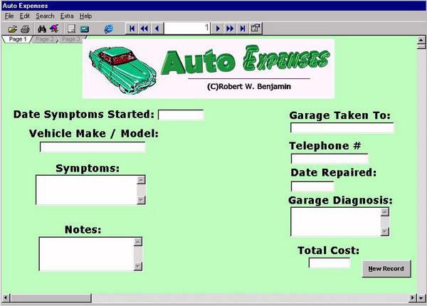 Auto Expense Manager 2009截图1
