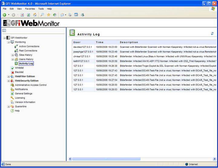 GFI WebMonitor for ISA Server截图1