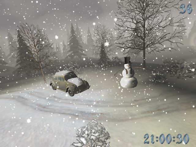 Snowy Winter 3D Screensaver截图1